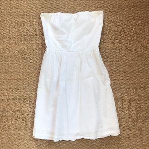 Strapless White Summer Dress